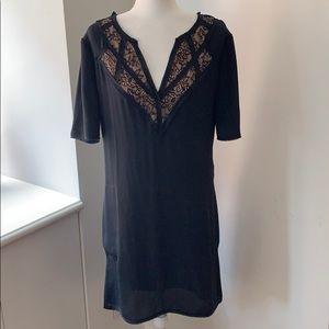 BCBG hi-low Lace trimmed dress with pockets!
